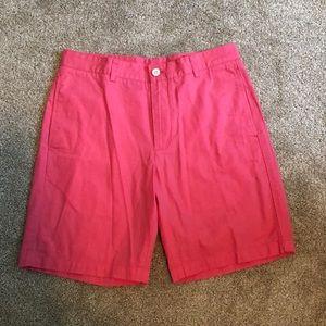 Men's salmon colored khaki shorts